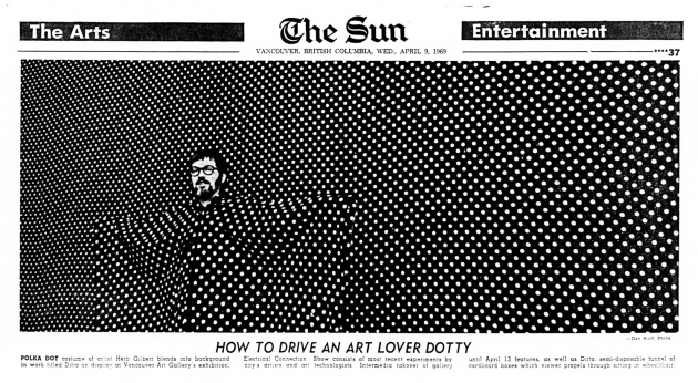 How To Drive An Art Lover Dotty, Vancouver Sun, April 9, 1969