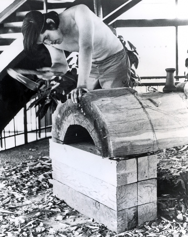 Robert Davidson carving at Expo 67', 1967