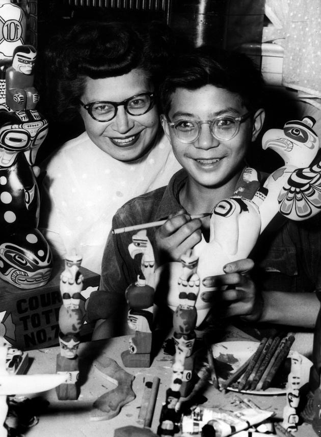 Ellen Neel and son David,  1966