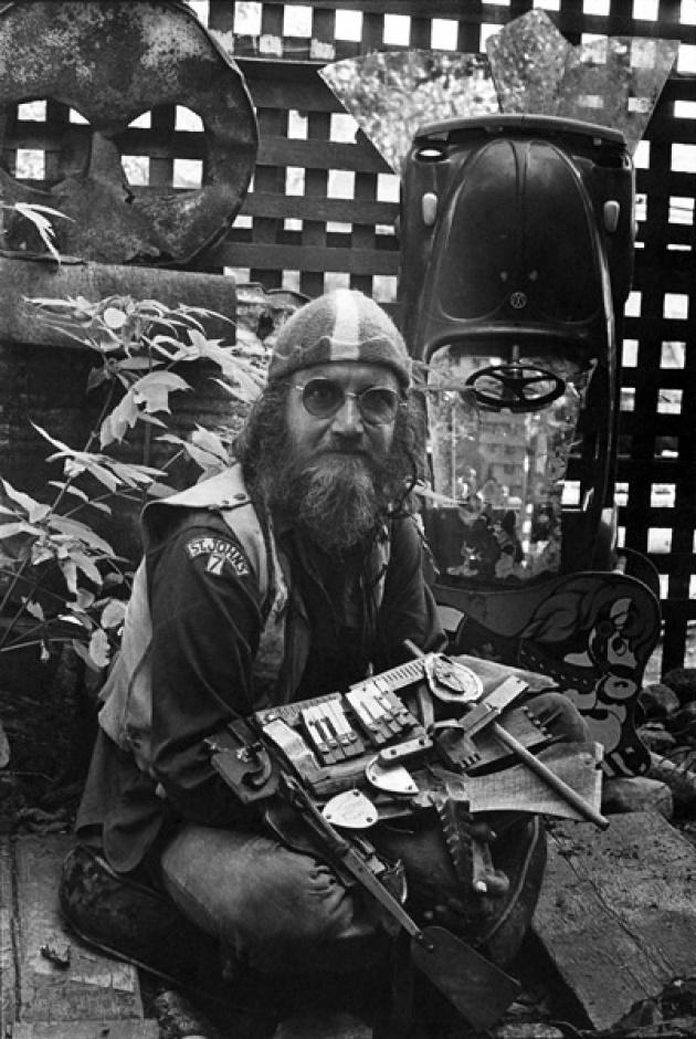 Al Neil on front Deck, Dollarton, BC, 1973