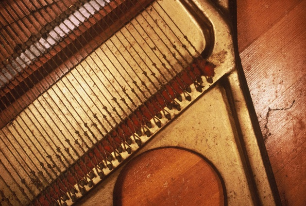 """Detail of Al Neil's piano from """"What is a Piano"""" a performance at the Western Front"""