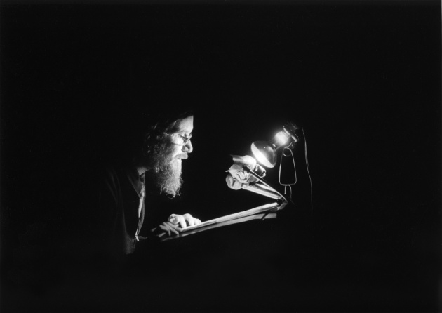 Michael de Courcy, Al Neil reading at the Vancouver Art Gallery, 1968