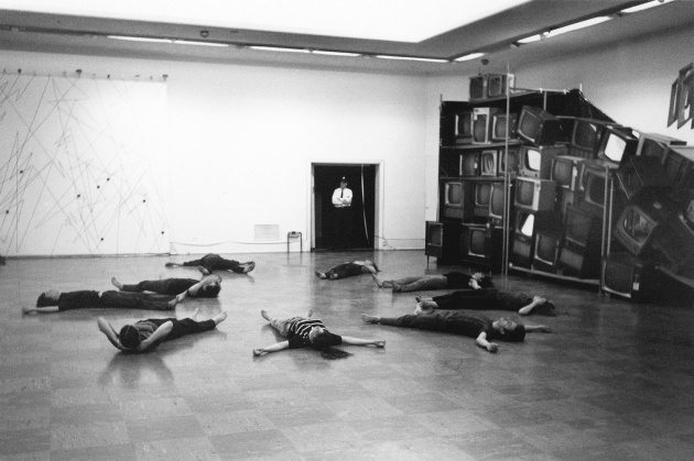 Michael de Courcy, The Co. rehearsal at the Vancouver Art Gallery, 1969
