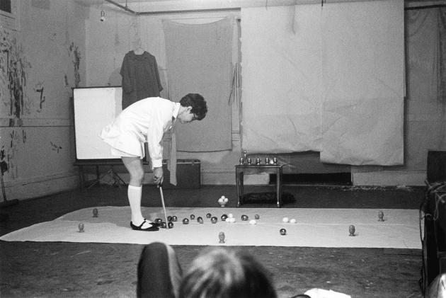 Michael de Courcy, Gathie Falk performing Egger than I, 1970