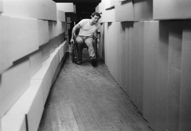 Bob Arnold fabricating an installation for Electrical Connection, Michael de Courcy, Bob Arnold, 1969