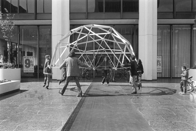 Geodesic Dome in downtown Vancouver, Michael de Courcy
