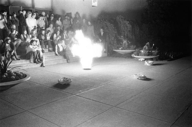 Performance in front of the Vancouver Art Gallery at the Dome Show, 1970