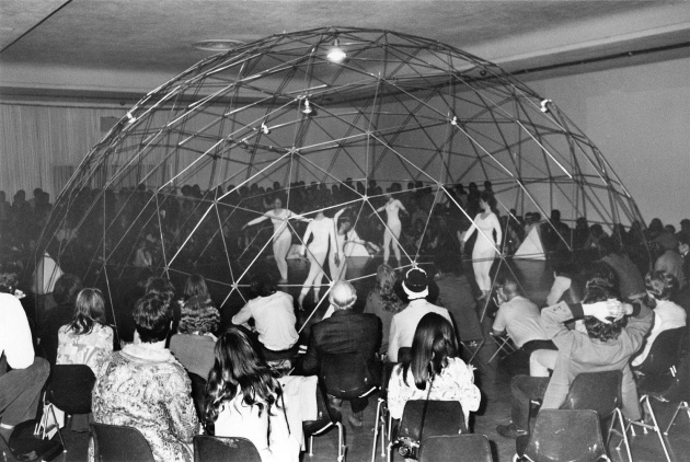 "Michael de Courcy, ""Dance Loops"" at the Dome Show, 1970"
