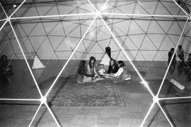 Michael de Courcy, Poets chanting at the Dome Show, 1970
