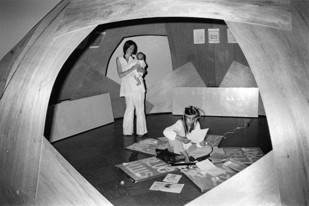 Michael de Courcy, Experimental Concrete Poetry at the Dome Show, 1970