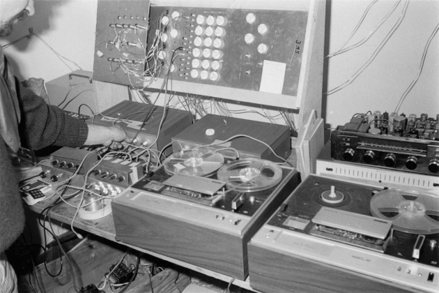 Michael de Courcy, Sound Central at the Dome Show, 1970