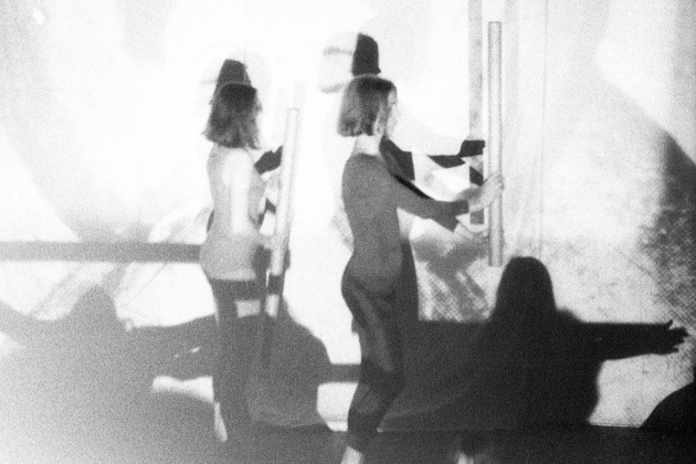 Jack Dale, WECO dancers performing at the Motion Studio, Karen Jamieson pictured at right, 1966