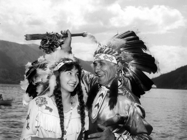 Diana Dunstan and Chief Dan George, 1960
