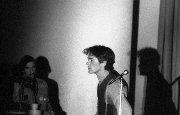 Jack Dale, Michael McClure reading at the Trips Festival, 1966
