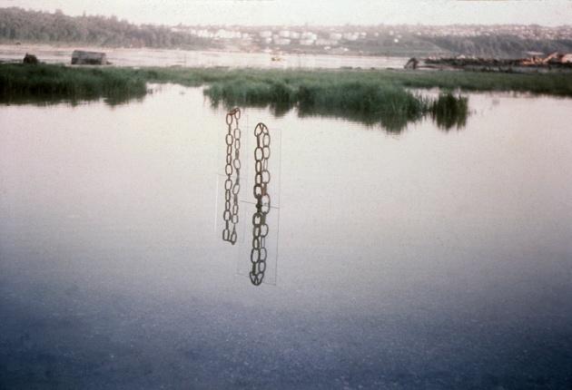 Tom Burrows, Untitled (documentation of Mud Flats sculpture), 1971