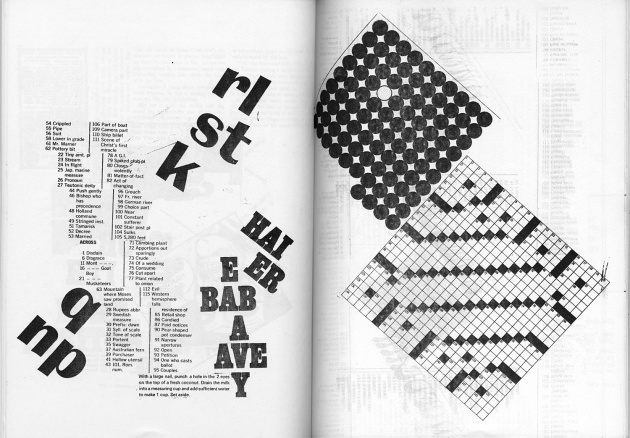 "Ian Wallace, ""Crossword Collage,"" 1968"