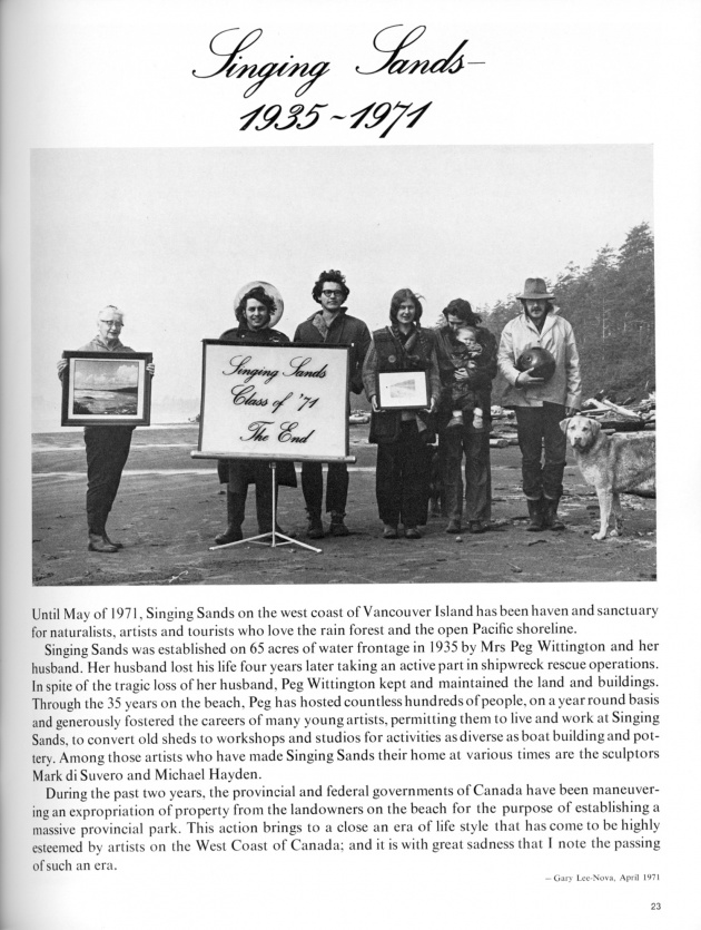 """Our Beautiful West Coast Thing"",  artscanada, June/July, 1971 (page 23)"