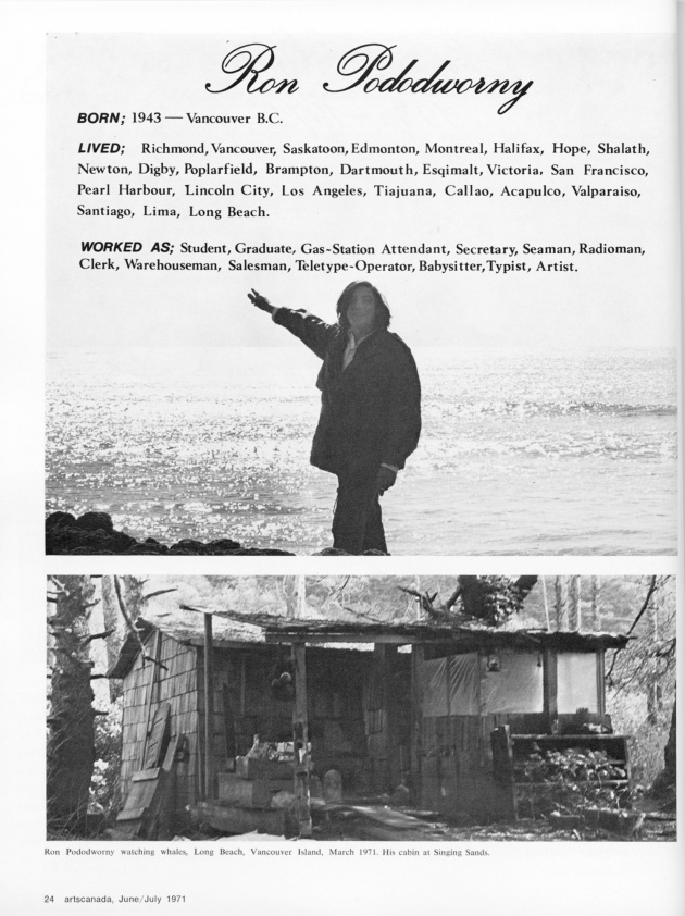 """Our Beautiful West Coast Thing"",  artscanada, June/July, 1971 (page 24)"