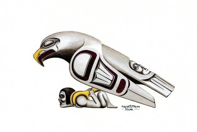Pat McGuire, Haida Eagle, 1979