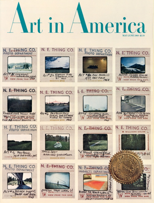 Art in America, May/June 1969 (cover), 1969