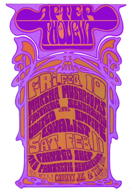 Bob Masse, Martha & the Mushrooms Unitled Empire Loyalists Seeds of Time, 1966
