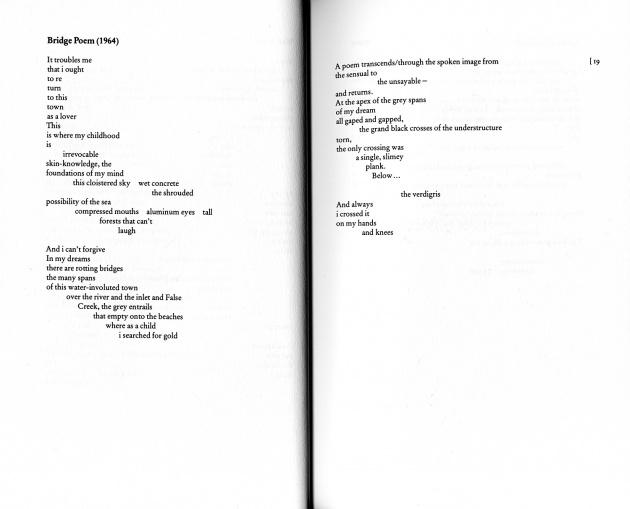 """Bridge Poem (1964)"" by Maxine Gadd"
