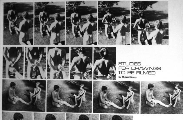 Michael Morris, Studies for 2 Drawings to be Filmed (Det.) Photo Arts Canada, 1972
