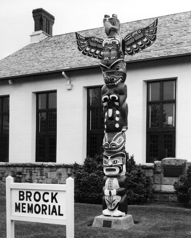 Kwakiute (Thunderbird) pole, 1948