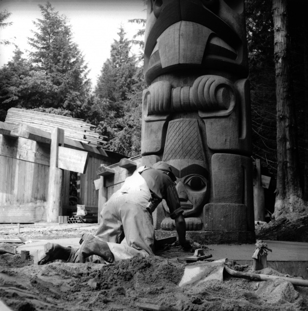 Totem Poles and Long Houses at the University of British Columbia