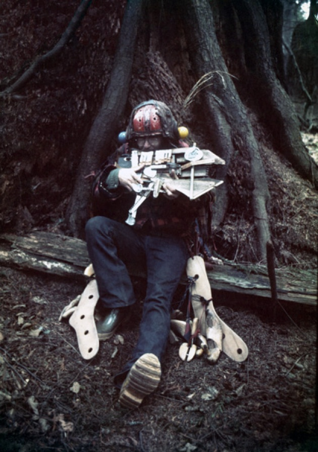Al Neil in Buffalo Man Costume, Cates Park, North Vancouver, 1972