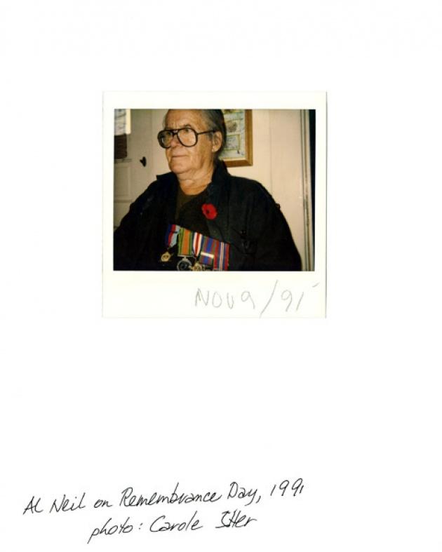 Al Neil on Rememberance Day, 1991