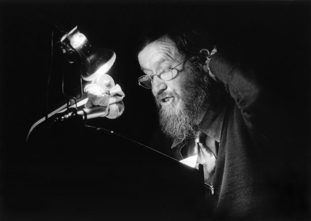 Michael de Courcy, Al Neil reading at the Vancouver Art Gallery, 1968
