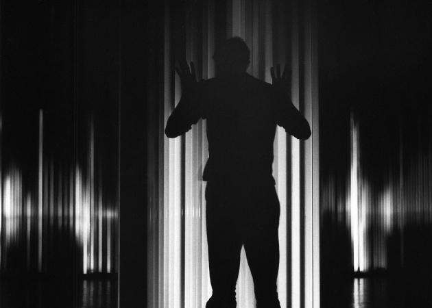 Michael de Courcy, Johnny Neon installation at Intermedia Nights, 1968