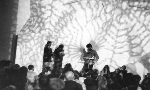 Michael de Courcy, Mandan Ghetto performing at Intermedia Nights, 1968