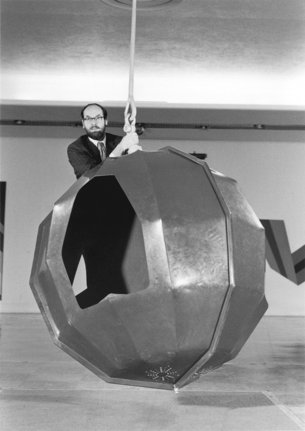 Michael de Courcy, Tony Emery at the Vancouver Art Gallery, 1969