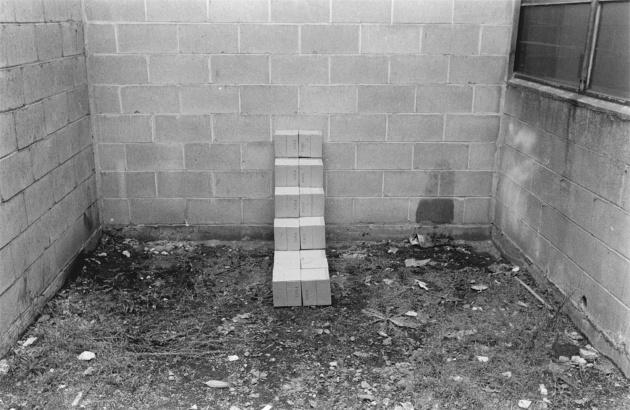 Michael de Courcy, Boxes under the Granville Street Bridge, 1969