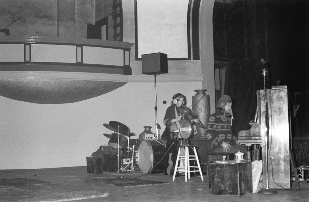 The Al Neil Trio performing at the Colonial Magic Theater, Michael de Courcy, Al Neil, Marguerite Neil