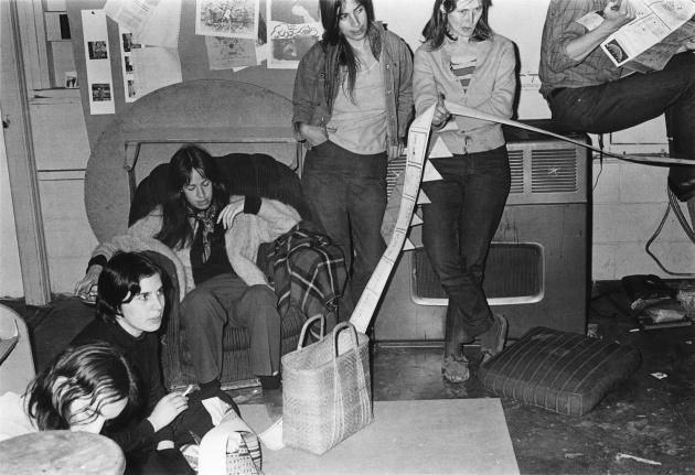 Dome Show meeting at Intermedia, Michael de Courcy, 1970