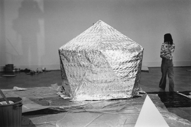 Installing the Dome Show at Intermedia, Michael de Courcy, 1970