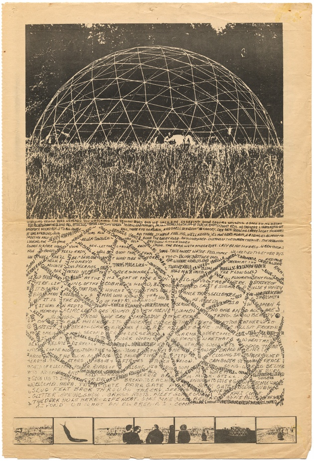 Dome Show Georgia Straight Insert, Gerry Gilbert, Michael de Courcy, 1970