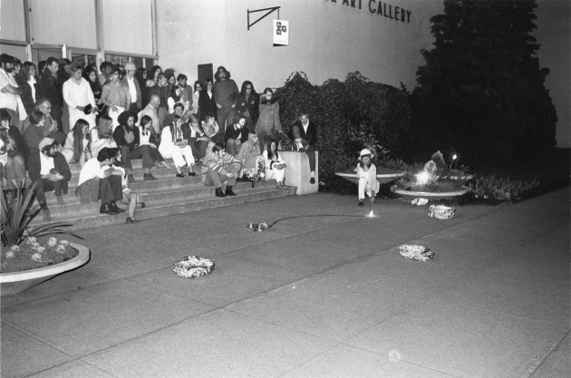 Dome Show performance in front of the Vancouver Art Gallery, 1970
