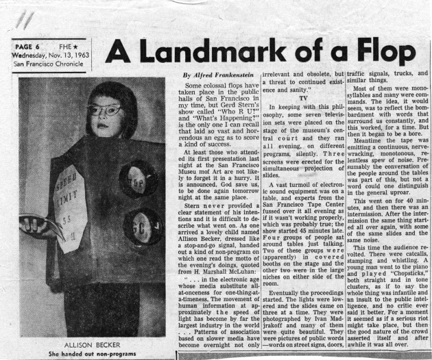A Landmark of a Flop, San Francisco Chronicle, November 13, 1963