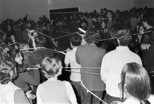 """Michael de Courcy, """"Dance Loops"""" at the Dome Show, 1970"""