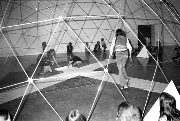 "Michael de Courcy, Poetry Front ""Casting an Oracle"" at the Dome Show, 1970"