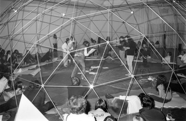 Michael de Courcy, Poetry play at the Dome Show, 1970