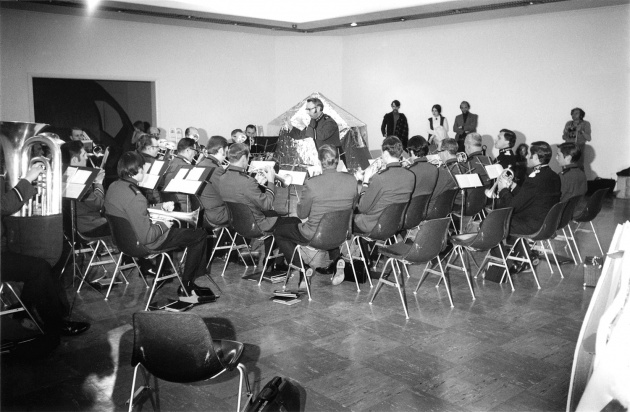 Michael de Courcy, The Salvation Army Band at the Dome Show, 1968