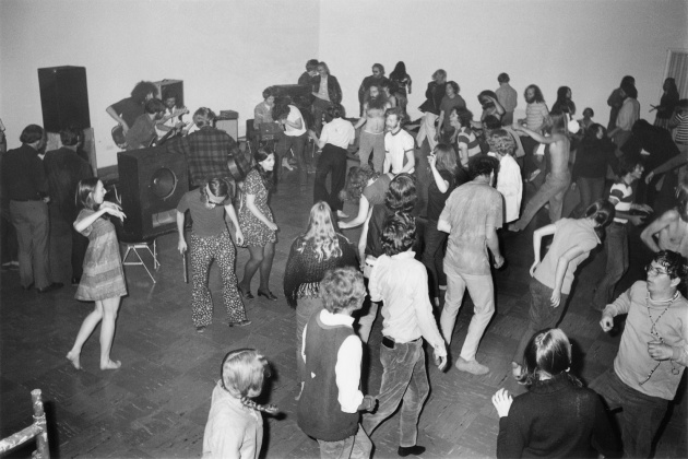 Michael de Courcy, Dancing to a rock band at the Dome Show, 1970