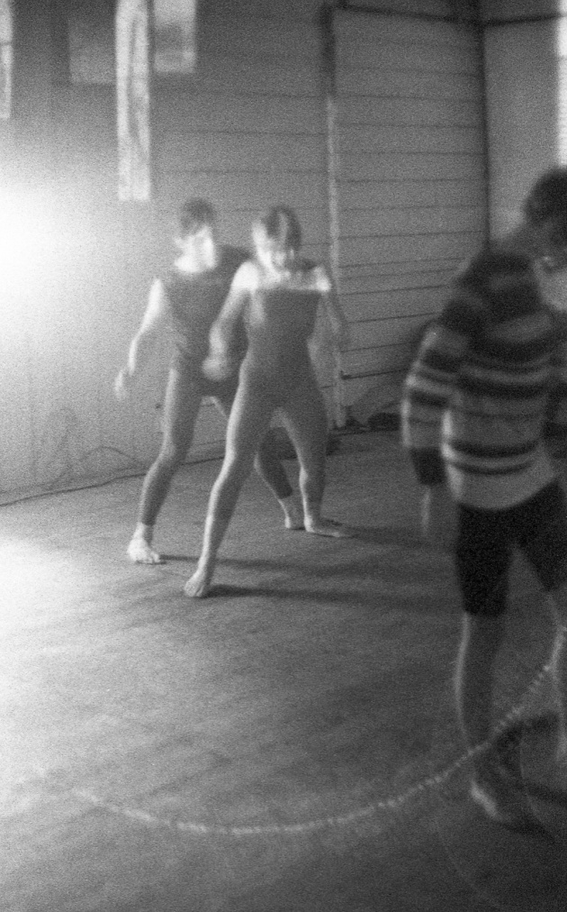 Jack Dale, WECO dancers at the Motion Studio, Judith Schwarz at right, 1966