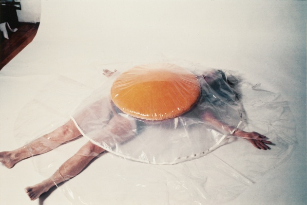 Carole Itter, Raw Egg Costume, c. 1974