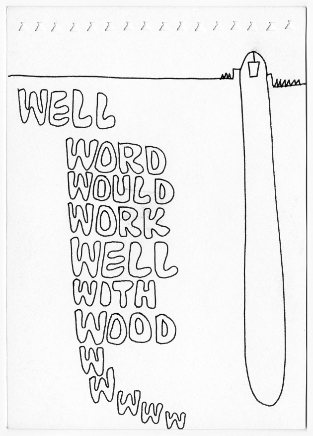 Carole Itter, Word Work, Series of 19 drawings, c. 1966 - 69